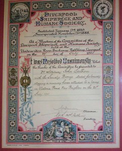 Liverpool Shipwreck and Humane Society Award