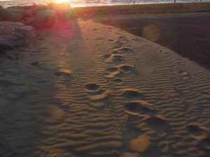 sandy footsteps
